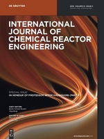 Cover page of International Journal of Chemical Reactor Engineering