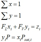 Equ 4 Phase Equilibrium Calc Ideal Thermo Example