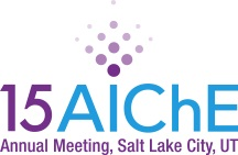 Logo of AIChE 2015 Annual Meeting, held in Salt Lake City, UT from Nov 8 till Nov 13, 2015.